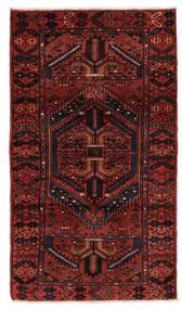 Hamadan Teppich 106X199 Echter Orientalischer Handgeknüpfter Dunkelrot (Wolle, Persien/Iran)
