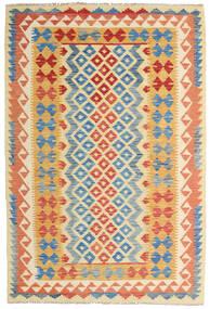 Kelim Afghan Old Style Teppich  126X186 Echter Orientalischer Handgewebter Dunkel Beige/Rot (Wolle, Afghanistan)