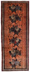 Afshar Teppich 107X265 Echter Orientalischer Handgeknüpfter Läufer Dunkelbraun/Rot (Wolle, Persien/Iran)