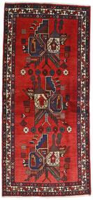 Afshar Teppich 84X230 Echter Orientalischer Handgeknüpfter Läufer Dunkelbraun/Rost/Rot (Wolle, Persien/Iran)