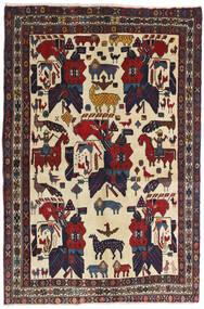 Afshar Teppich  126X188 Echter Orientalischer Handgeknüpfter Dunkelgrau/Dunkelrot (Wolle, Persien/Iran)