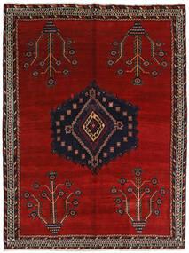 Afshar Teppich  157X209 Echter Orientalischer Handgeknüpfter Dunkelrot/Rot (Wolle, Persien/Iran)