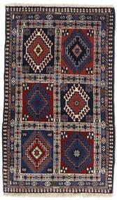 Yalameh Teppich 63X106 Echter Orientalischer Handgeknüpfter Schwartz/Dunkellila (Wolle, Persien/Iran)