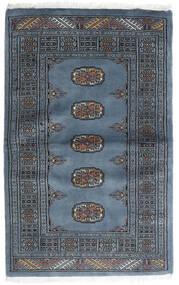 Pakistan Buchara 3Ply Teppich  82X130 Echter Orientalischer Handgeknüpfter Blau/Dunkelgrau (Wolle, Pakistan)