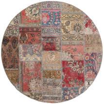 Patchwork - Persien/Iran Teppich  Ø 150 Echter Moderner Handgeknüpfter Rund Braun/Hellgrau (Wolle, Persien/Iran)