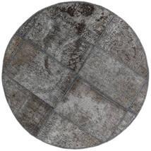 Patchwork - Persien/Iran Teppich  Ø 100 Echter Moderner Handgeknüpfter Rund Dunkelgrau/Hellgrau (Wolle, Persien/Iran)