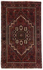 Gholtogh Teppich  80X131 Echter Orientalischer Handgeknüpfter Dunkelbraun/Dunkelrot (Wolle, Persien/Iran)