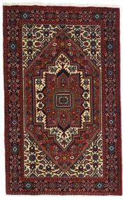 Gholtogh Teppich 81X129 Echter Orientalischer Handgeknüpfter Dunkelrot/Dunkelbraun (Wolle, Persien/Iran)