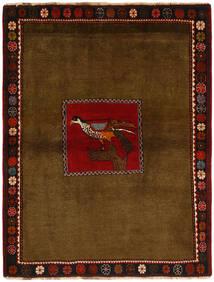 Ghashghai Teppich 130X170 Echter Orientalischer Handgeknüpfter Braun/Dunkelbraun (Wolle, Persien/Iran)