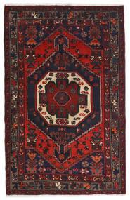 Hamadan Teppich 80X122 Echter Orientalischer Handgeknüpfter Dunkelbraun/Dunkelrot (Wolle, Persien/Iran)