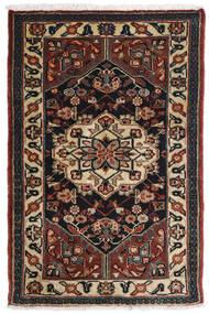 Asadabad Teppich 81X121 Echter Orientalischer Handgeknüpfter Dunkelbraun/Schwartz/Hellbraun (Wolle, Persien/Iran)