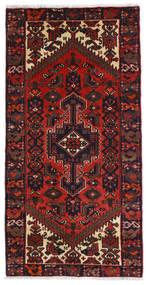 Hamadan Teppich 73X142 Echter Orientalischer Handgeknüpfter Dunkelrot (Wolle, Persien/Iran)