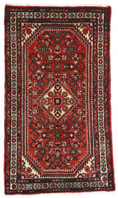 Hamadan Teppich 72X120 Echter Orientalischer Handgeknüpfter Dunkelrot/Dunkelbraun (Wolle, Persien/Iran)