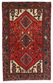 Hamadan Teppich 72X117 Echter Orientalischer Handgeknüpfter Dunkelrot/Schwartz (Wolle, Persien/Iran)