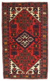 Hamadan Teppich 76X127 Echter Orientalischer Handgeknüpfter Dunkelrot/Dunkelbraun (Wolle, Persien/Iran)