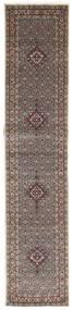 Moud Teppich  82X393 Echter Orientalischer Handgeknüpfter Läufer Hellgrau/Beige (Wolle/Seide, Persien/Iran)