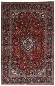 Keshan Teppich 197X306 Echter Orientalischer Handgeknüpfter Dunkelrot/Dunkelbraun (Wolle, Persien/Iran)