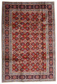 Keshan Teppich  192X283 Echter Orientalischer Handgeknüpfter Dunkelrot/Dunkelbraun (Wolle, Persien/Iran)