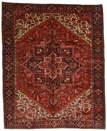 Heriz Teppich  314X386 Echter Orientalischer Handgeknüpfter Dunkelrot/Dunkelbraun Großer (Wolle, Persien/Iran)