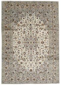 Keshan Teppich 246X352 Echter Orientalischer Handgeknüpfter Hellgrau/Dunkelgrau (Wolle, Persien/Iran)