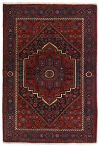 Gholtogh Teppich 104X152 Echter Orientalischer Handgeknüpfter Dunkelrot (Wolle, Persien/Iran)