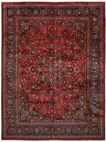 Maschad Teppich  296X393 Echter Orientalischer Handgeknüpfter Dunkelrot/Dunkelgrau Großer (Wolle, Persien/Iran)