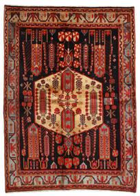 Afshar Teppich 171X234 Echter Orientalischer Handgeknüpfter Dunkelrot/Dunkelbraun (Wolle, Persien/Iran)