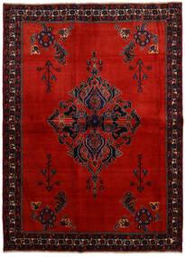 Afshar Teppich 166X228 Echter Orientalischer Handgeknüpfter Dunkelrot/Rost/Rot (Wolle, Persien/Iran)
