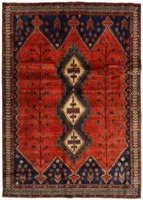 Afshar Teppich 176X248 Echter Orientalischer Handgeknüpfter Dunkelbraun/Rost/Rot (Wolle, Persien/Iran)