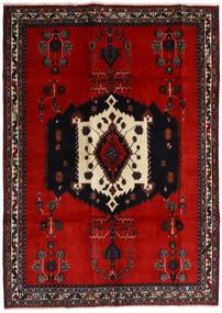 Afshar Teppich 188X261 Echter Orientalischer Handgeknüpfter Schwartz/Rost/Rot/Dunkelrot (Wolle, Persien/Iran)