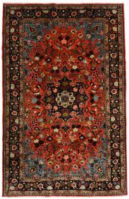 Mehraban Teppich 188X290 Echter Orientalischer Handgeknüpfter Dunkelrot/Rost/Rot (Wolle, Persien/Iran)