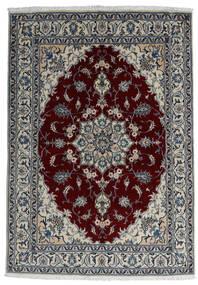Nain Teppich  166X238 Echter Orientalischer Handgeknüpfter Dunkelgrau/Dunkelrot/Hellgrau (Wolle, Persien/Iran)