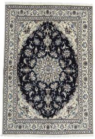Nain Teppich  164X238 Echter Orientalischer Handgeknüpfter Dunkelgrau/Schwartz (Wolle, Persien/Iran)