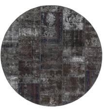 Patchwork - Persien/Iran Teppich  Ø 200 Echter Moderner Handgeknüpfter Rund Schwartz/Braun (Wolle, Persien/Iran)