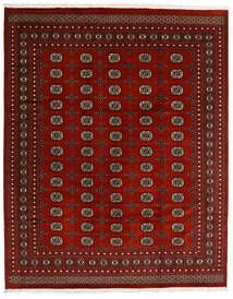 Pakistan Buchara 2Ply Teppich  247X308 Echter Orientalischer Handgeknüpfter Dunkelrot/Rot (Wolle, Pakistan)