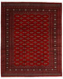Pakistan Buchara 2Ply Teppich  242X299 Echter Orientalischer Handgeknüpfter Dunkelrot/Dunkelbraun/Rot (Wolle, Pakistan)