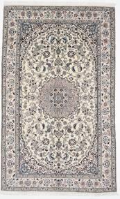 Nain 9La Teppich  156X254 Echter Orientalischer Handgeknüpfter Hellgrau/Weiß/Creme (Wolle/Seide, Persien/Iran)