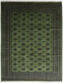 Pakistan Buchara 2Ply Teppich  280X363 Echter Orientalischer Handgeknüpfter Dunkelgrün/Dunkelgrau Großer (Wolle, Pakistan)