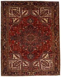 Heriz Teppich  257X322 Echter Orientalischer Handgeknüpfter Dunkelrot/Dunkelbraun Großer (Wolle, Persien/Iran)