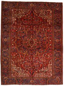 Heriz Teppich  302X403 Echter Orientalischer Handgeknüpfter Dunkelrot/Dunkelbraun Großer (Wolle, Persien/Iran)