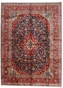 Keshan Teppich  296X400 Echter Orientalischer Handgeknüpfter Dunkelrot/Dunkellila Großer (Wolle, Persien/Iran)