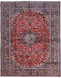 Najafabad Teppich  300X381 Echter Orientalischer Handgeknüpfter Dunkellila/Dunkelgrau Großer (Wolle, Persien/Iran)