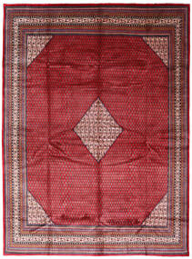 Sarough Mir Teppich  294X394 Echter Orientalischer Handgeknüpfter Rot/Dunkelrot Großer (Wolle, Persien/Iran)