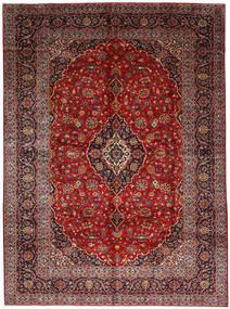 Keshan Teppich  278X377 Echter Orientalischer Handgeknüpfter Dunkelrot/Dunkelbraun Großer (Wolle, Persien/Iran)