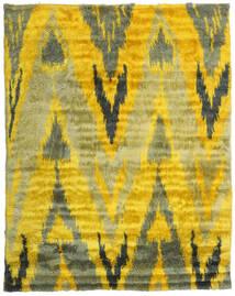 Handknotted Berber 35Mm Teppich 240X300 Echter Moderner Handgeknüpfter Gelb/Olivgrün (Wolle, Indien)