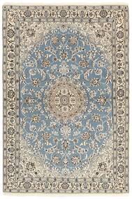 Nain 9La Teppich  118X177 Echter Orientalischer Handgeknüpfter Hellgrau/Beige (Wolle/Seide, Persien/Iran)