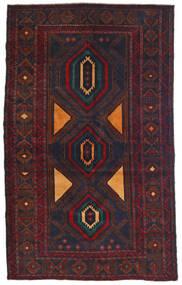 Belutsch Teppich  115X180 Echter Orientalischer Handgeknüpfter Schwartz/Dunkelrot (Wolle, Afghanistan)