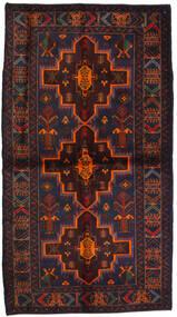 Belutsch Teppich  115X195 Echter Orientalischer Handgeknüpfter Schwartz/Dunkelrot (Wolle, Afghanistan)