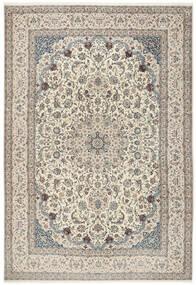 Nain 6La Teppich 260X380 Echter Orientalischer Handgeknüpfter Hellgrau/Beige Großer (Wolle/Seide, Persien/Iran)