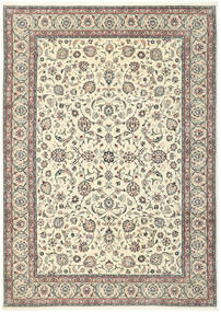 Kashmar Teppich  244X344 Echter Orientalischer Handgeknüpfter Beige/Hellgrau (Wolle/Seide, Persien/Iran)